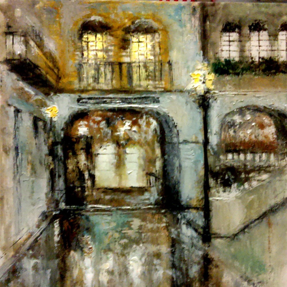 """To the Venetian"" original fine art by Bob Kimball"