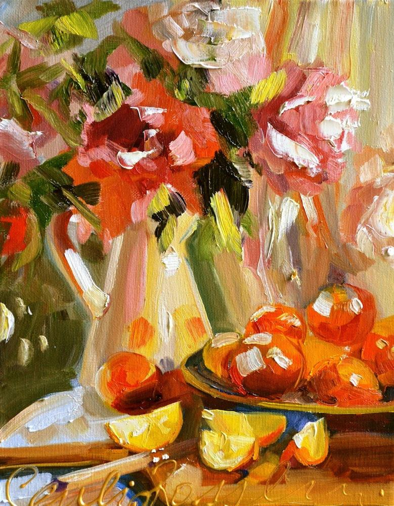 """ORANGES"" original fine art by Cecilia Rosslee"