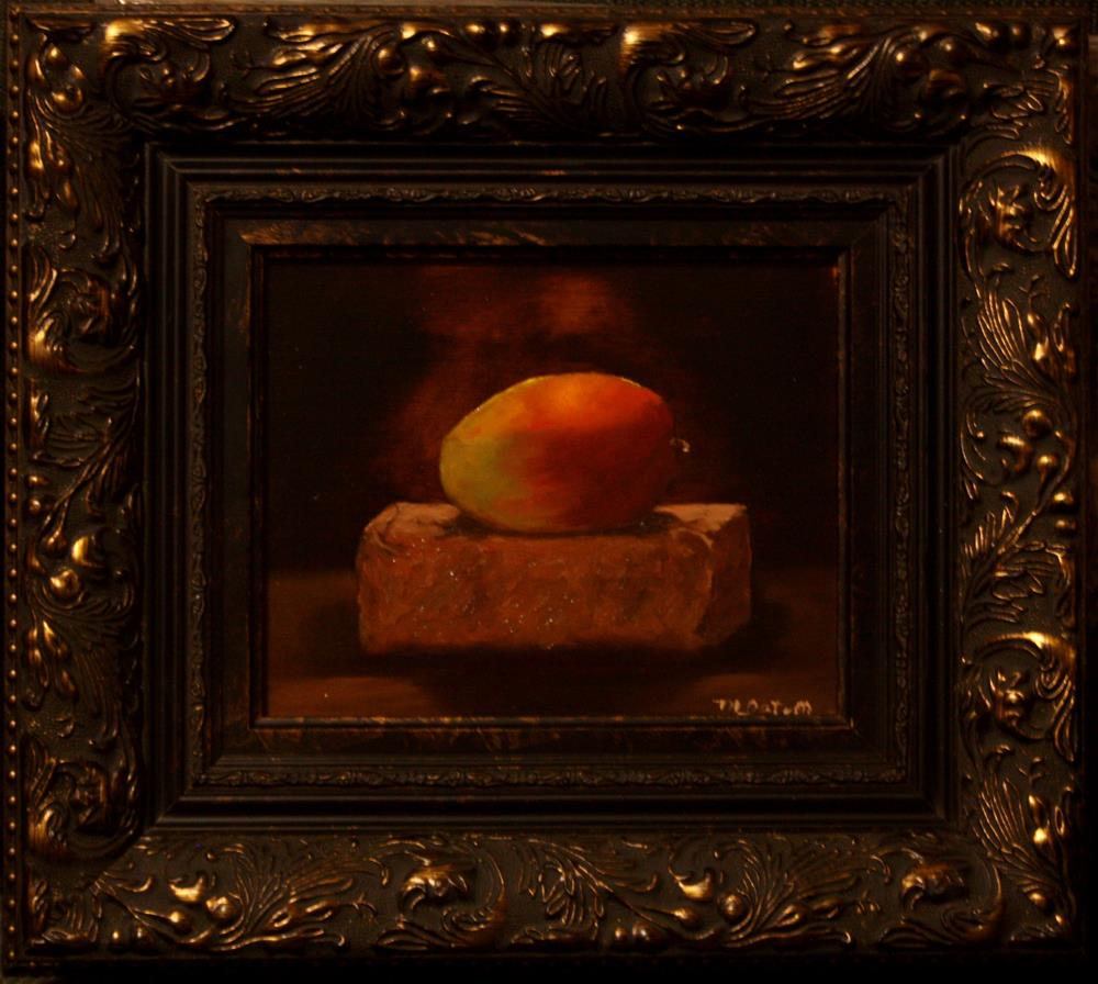 """Mango on Brick"" original fine art by Mary Datum"