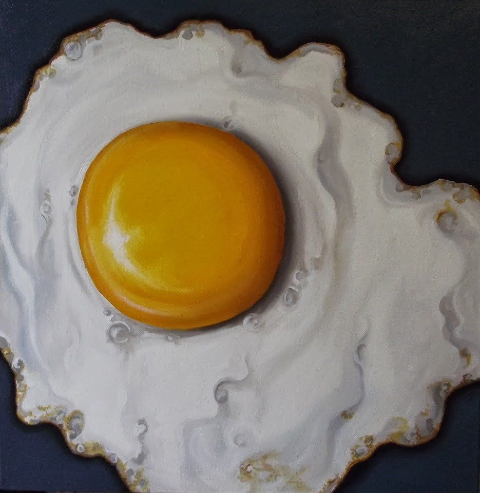 """BIG Fried Egg"" original fine art by Jane Palmer"