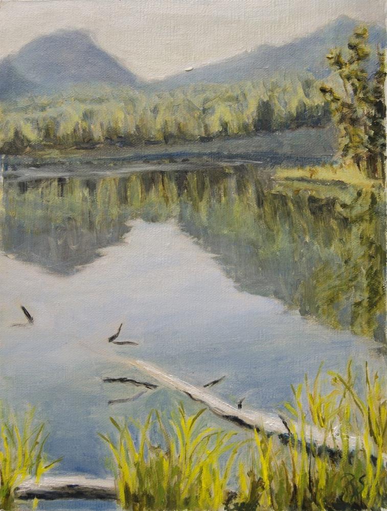 """Sprague Lake"" original fine art by Rachel Steely"