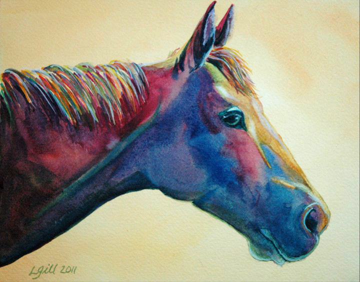 """Paint Pony 9 - Pansy"" original fine art by Lyn Gill"