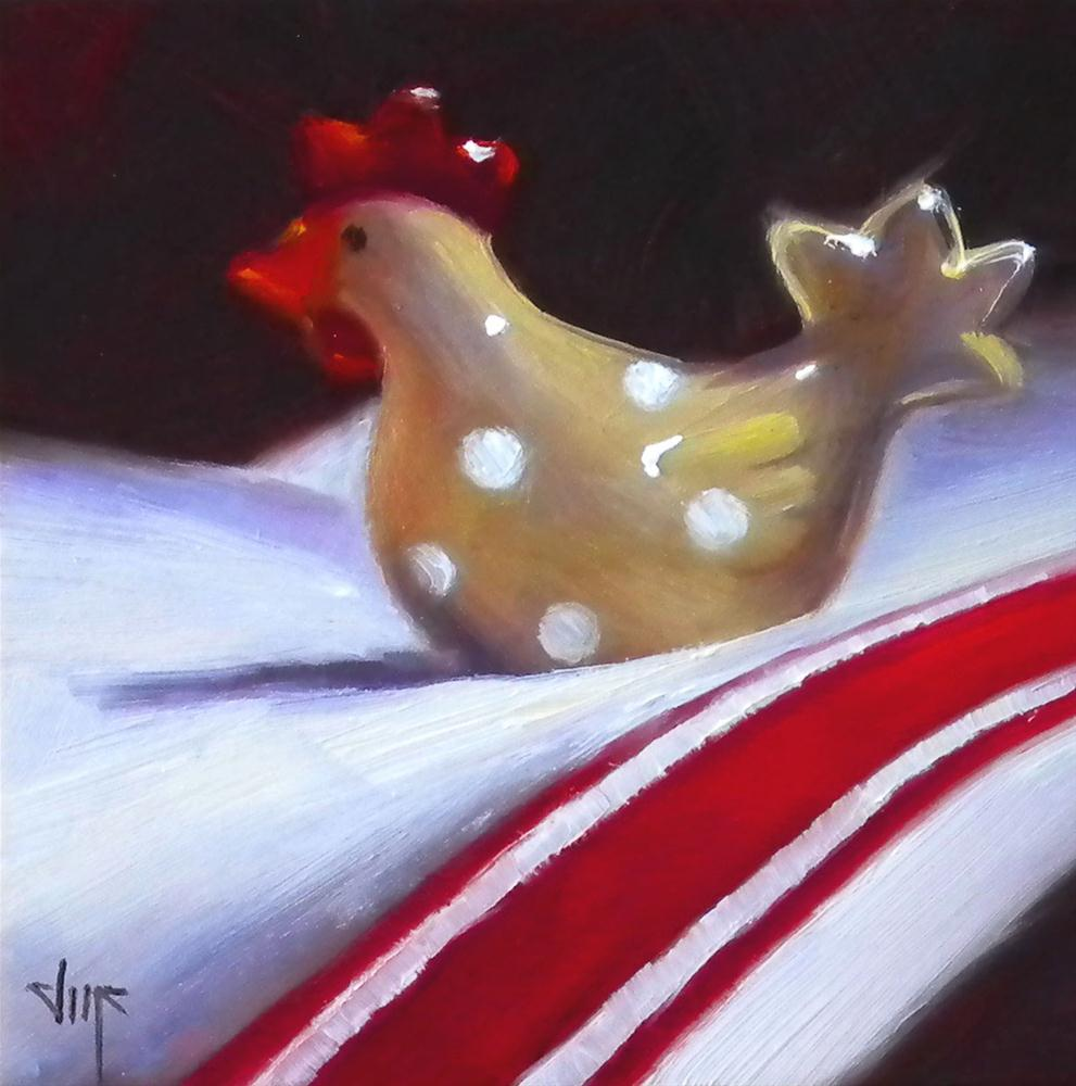 """The Chick in Red"" original fine art by Darla McDowell"