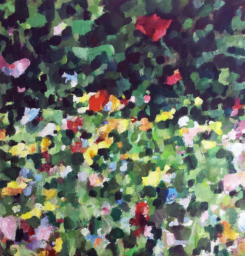 """Wildflower Abstract 2"" original fine art by Nava Judith"
