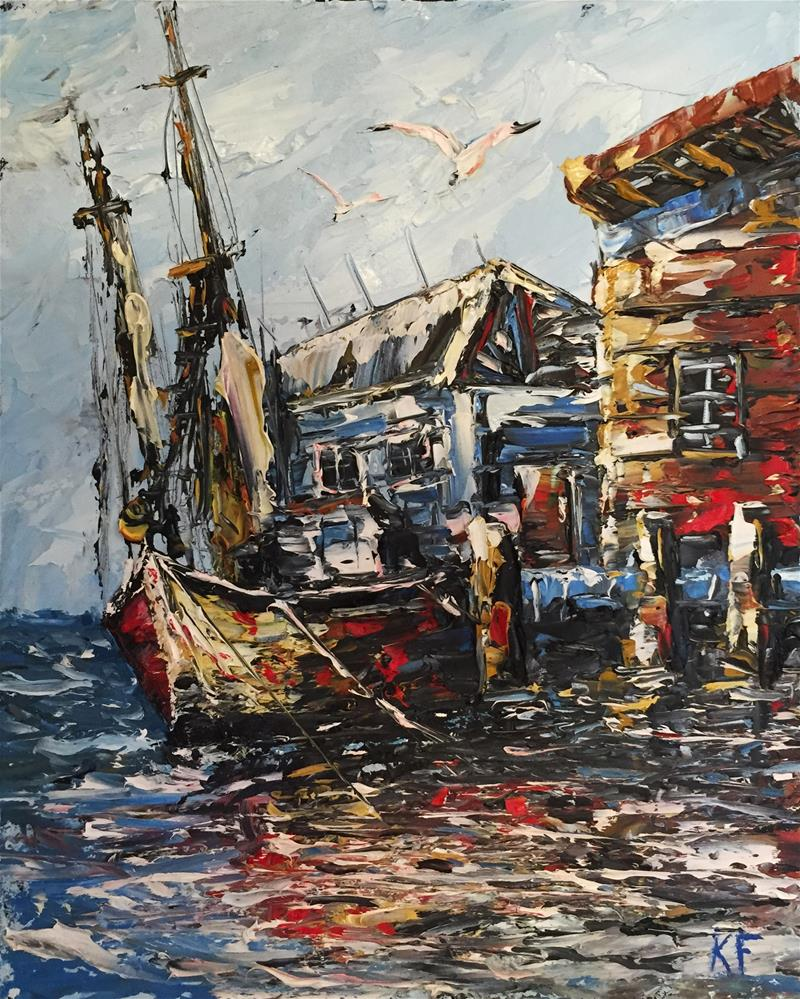 """Harbor Dock"" original fine art by Ken Fraser"