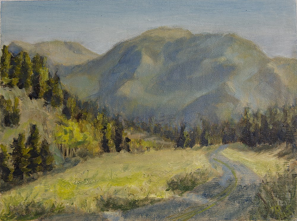 """Road in Mountain Park"" original fine art by Rachel Steely"