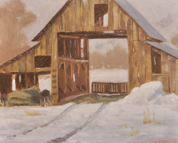 """The Old Barn"" original fine art by Susan Matteson"