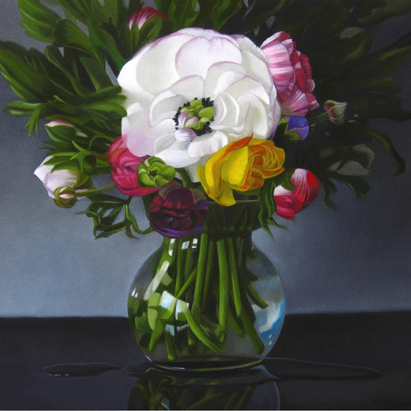 """Ranunculus 8x8"" original fine art by M Collier"