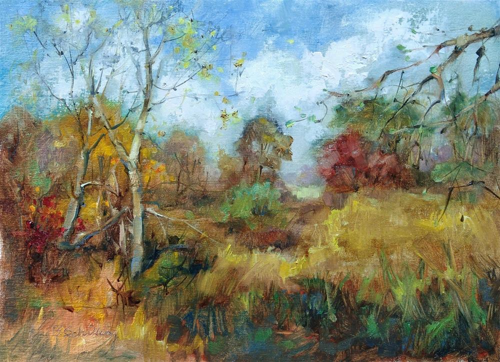 """Fall at Lamoreaux"" original fine art by Barbara Schilling"