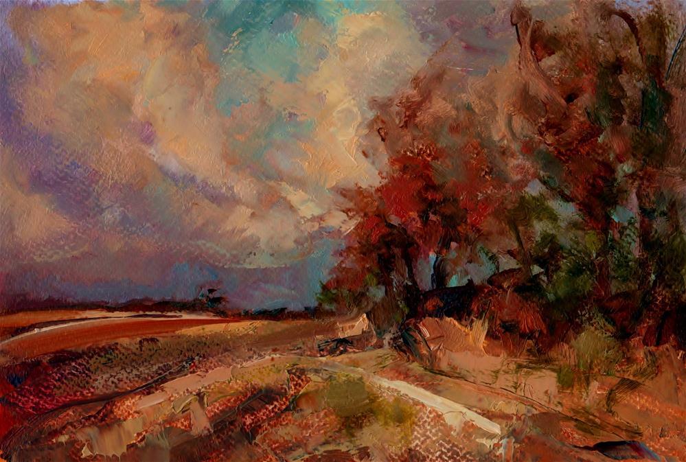 """Field's Edge"" original fine art by Anne Wood"