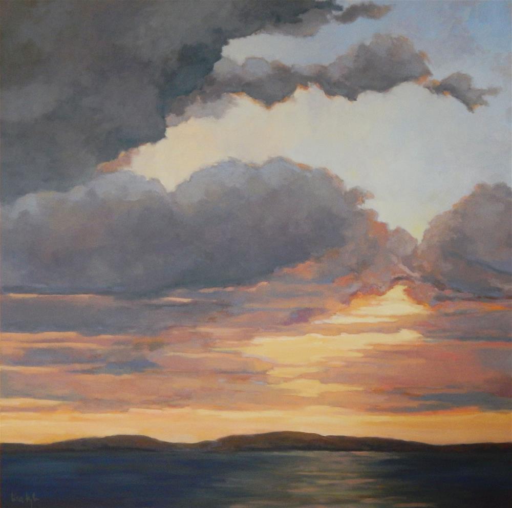 """Big Clouds"" original fine art by Lisa Kyle"
