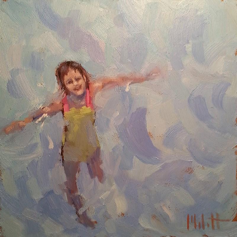 """Impressionism Children Original Daily Oil Painting"" original fine art by Heidi Malott"