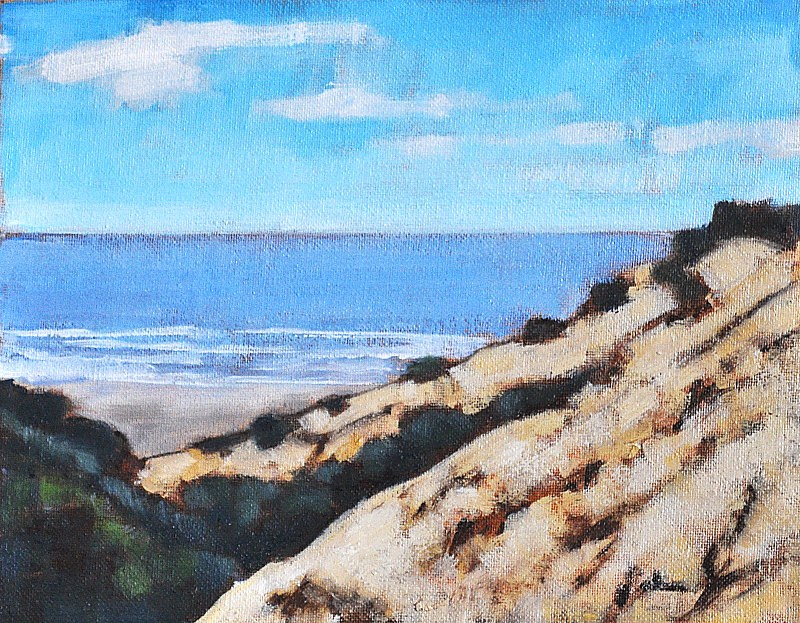 """Pacific Ocean Seascape- La Jolla Cliffs"" original fine art by Kevin Inman"