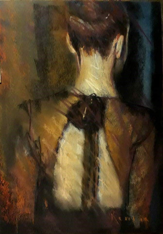"""Au revoir"" original fine art by Rentia Coetzee"