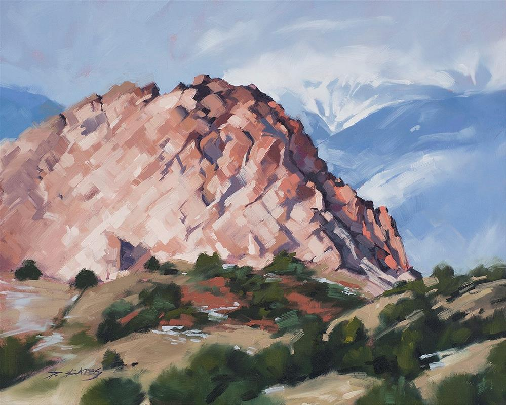 """Kindergarten Rock"" original fine art by David Bates"