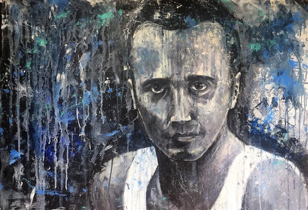 """PORTRAIT OF A FRIEND"" original fine art by Ferran Llagostera"