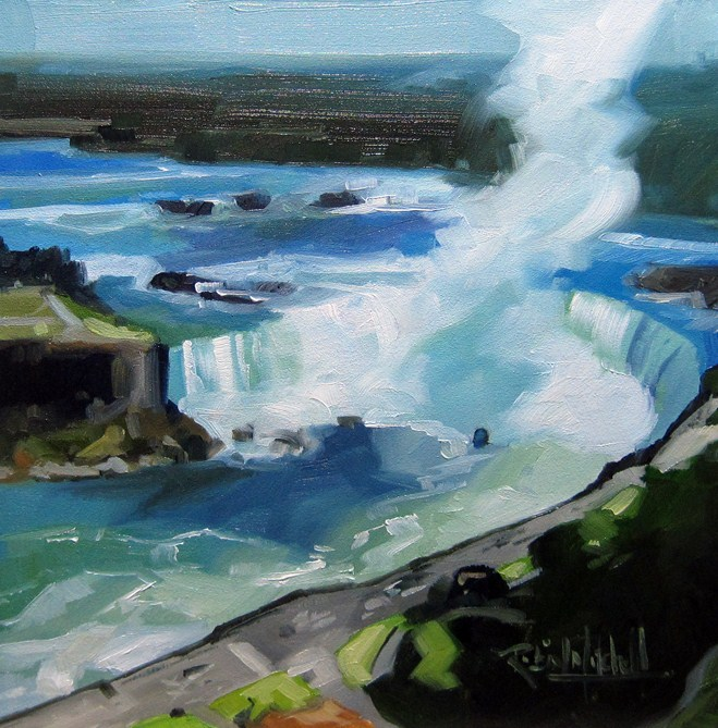 """No 536 Niagara Falls"" original fine art by Robin J Mitchell"