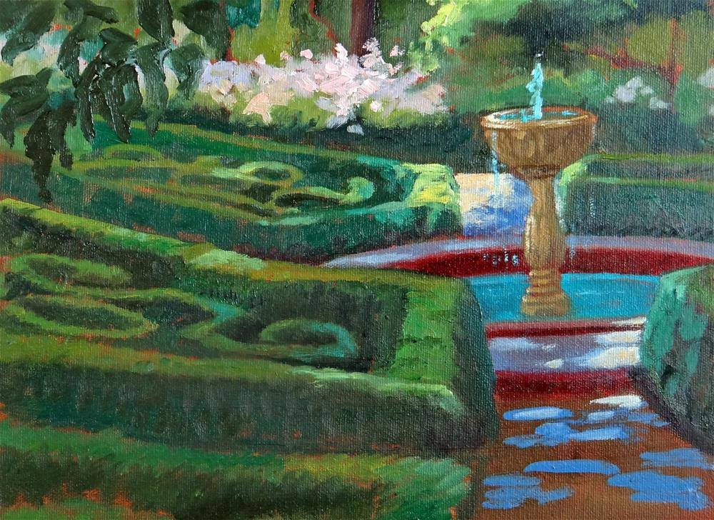 """Secret Garden"" original fine art by Nancy Paris Pruden"