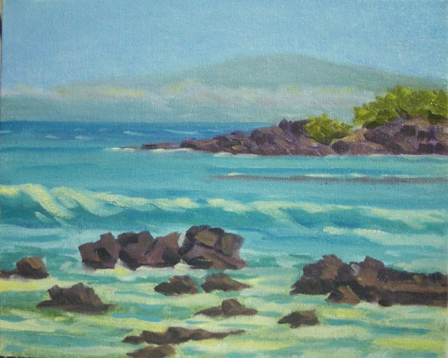 """Maui View"" original fine art by Stan Chraminski"