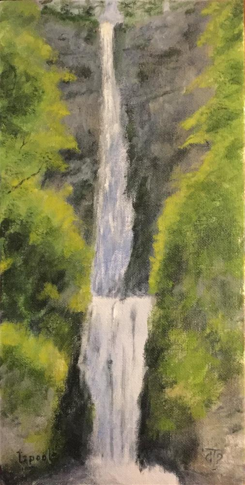 """""""Bridgeless Multanomah Falls"""" original fine art by T.C. Poole"""