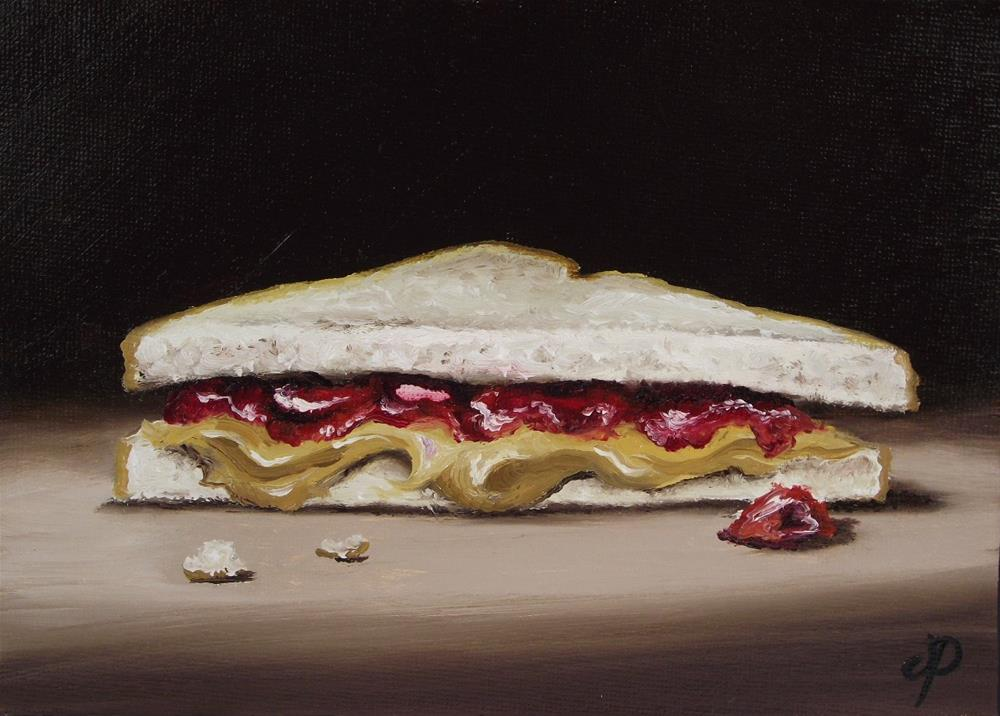 """Peanut butter and Jelly #2"" original fine art by Jane Palmer"