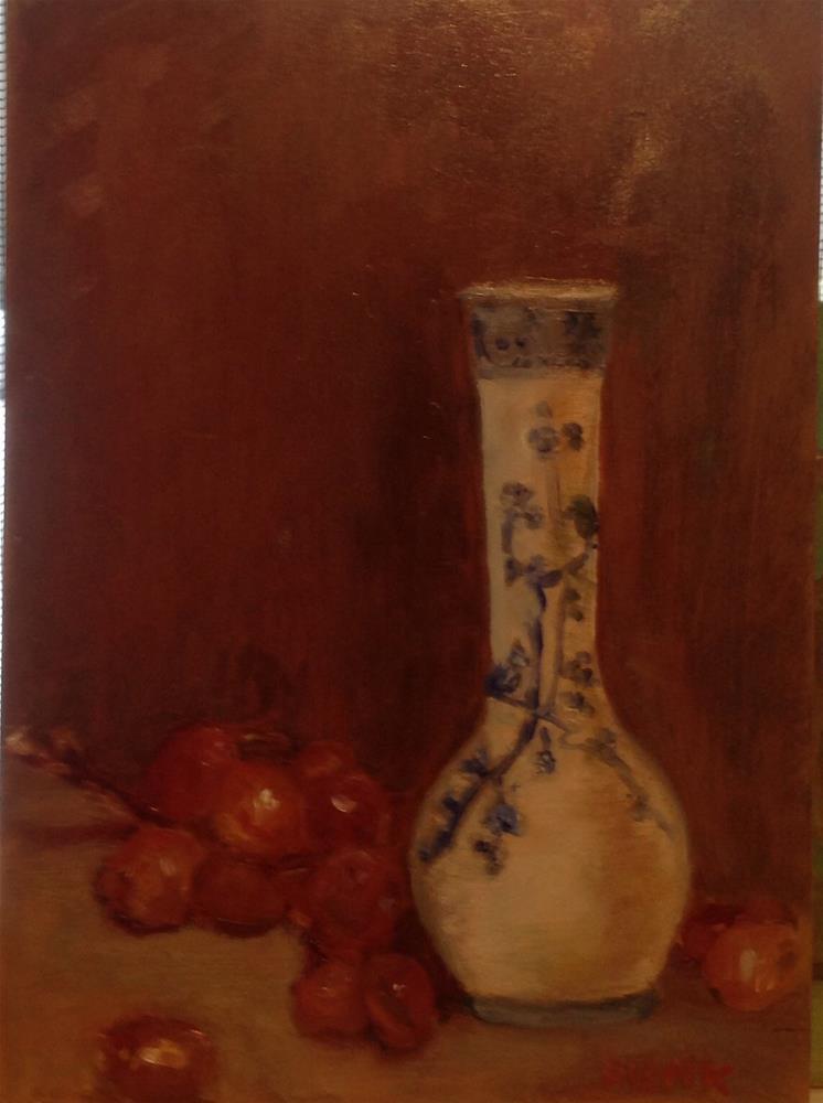 """""""Grapes"""" original fine art by Lorraine Funk"""