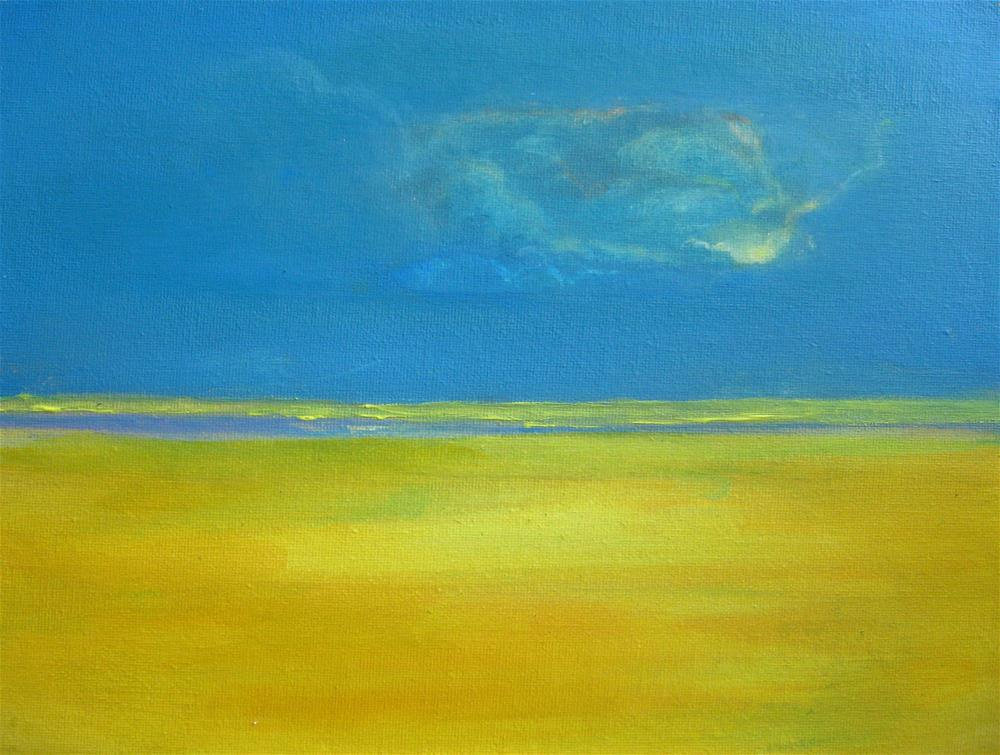 """Blue Sky Yellow Fields"" original fine art by Alina Frent"