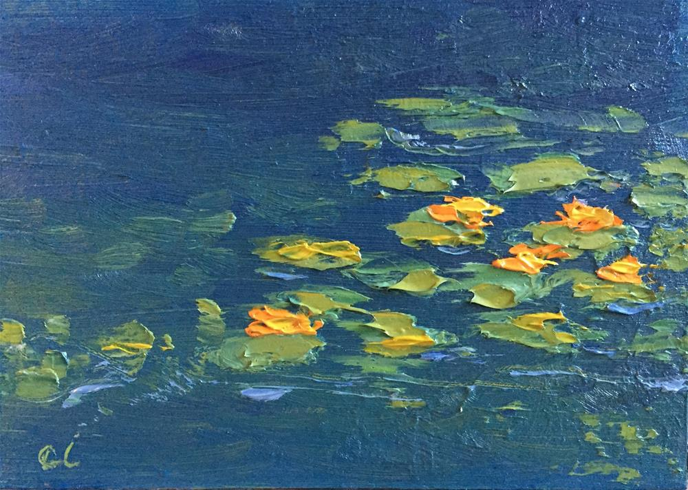 """Orange you lilies something"" original fine art by Cheree Apalona Lueck"