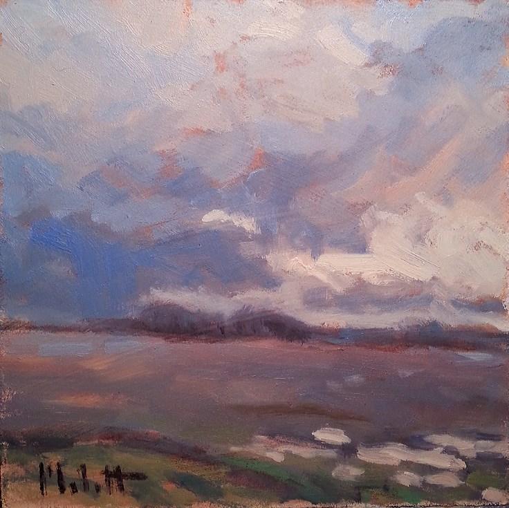 """Spring Landscape Original Oil Painting Impressionism"" original fine art by Heidi Malott"