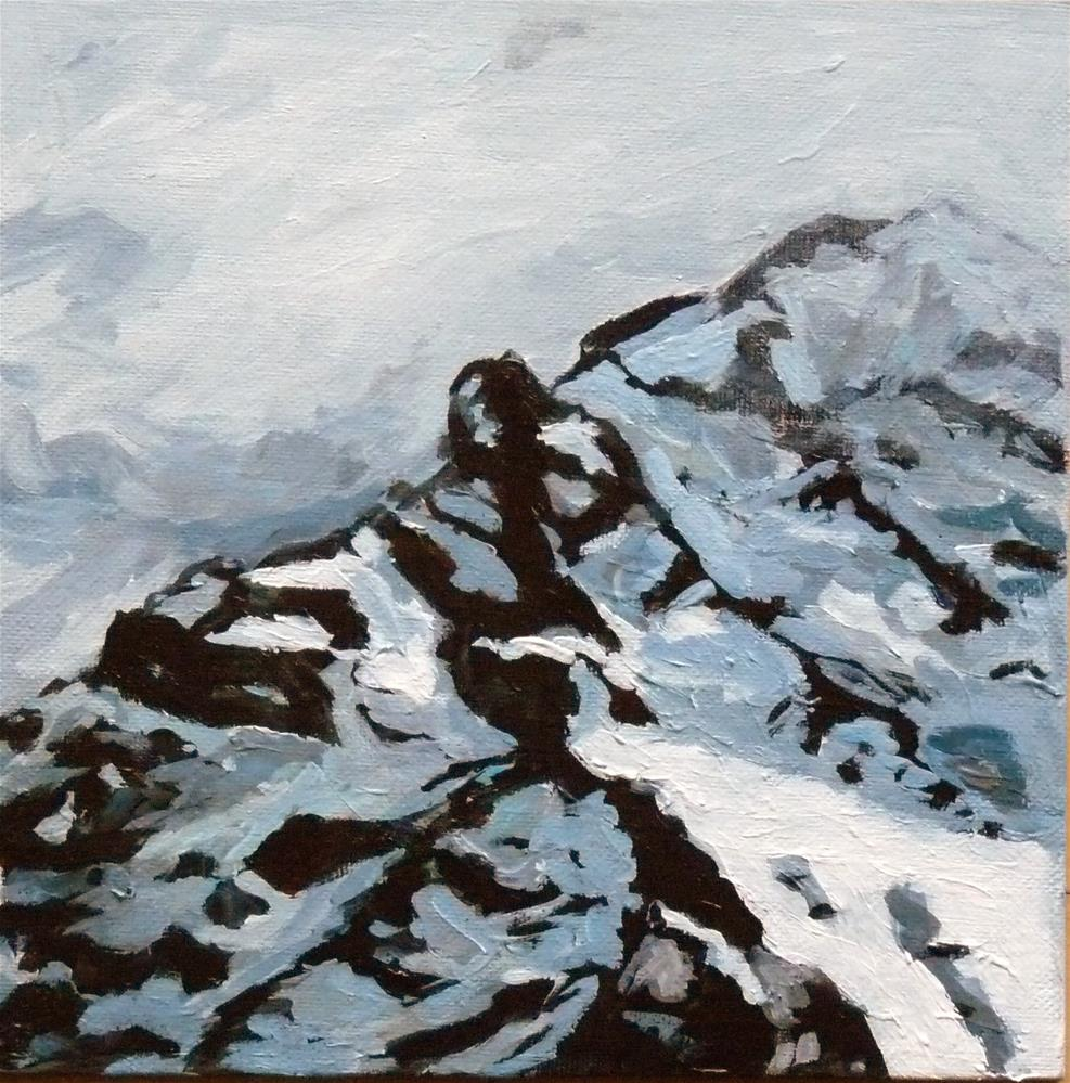 """""""Alpengipfel"""" original fine art by Eva Grünwald"""