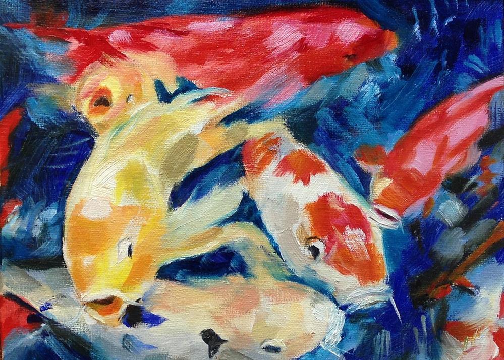 """Coy Koi"" original fine art by Linda Lowery"