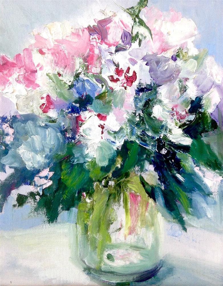 """White Delight"" original fine art by Cathy Boyd"