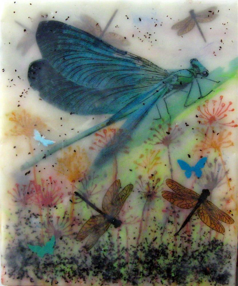 """La Grande Demoiselle"" original fine art by Danielle M. Le  Bris"