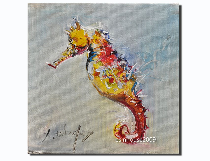 """Seahorse"" original fine art by Thomas Xie"