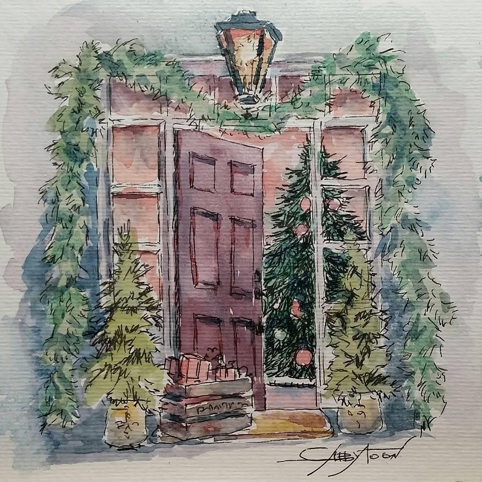 """Christmas Eve"" original fine art by Gabriella DeLamater"