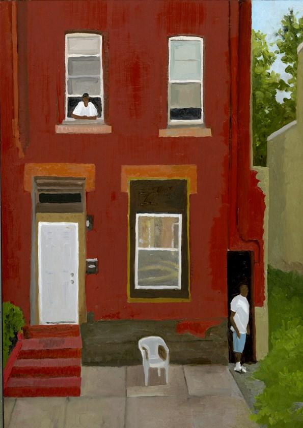 """city summer"" original fine art by Nancy Herman"