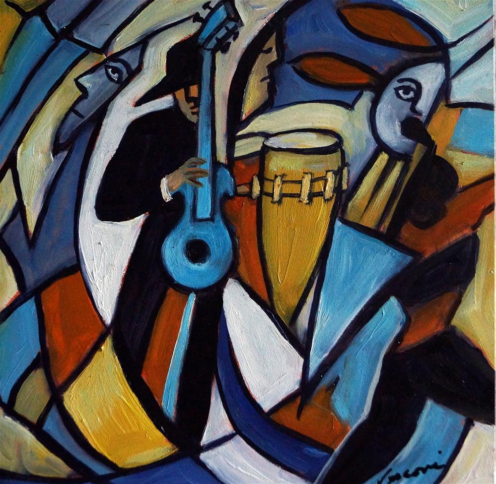 """Jazzz"" original fine art by Valerie Vescovi"