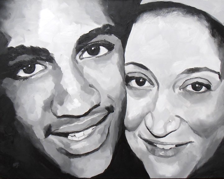 """Brenden and Amy"" original fine art by Elizabeth Dawn Johnston"