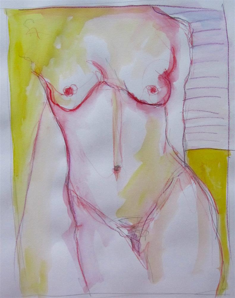 """Sketchbook Figure Study 4"" original fine art by Patricia MacDonald"
