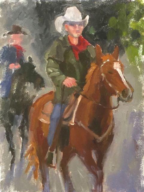 """""""Shoulda' Been a Cowboy"""" original fine art by Judy Elias"""