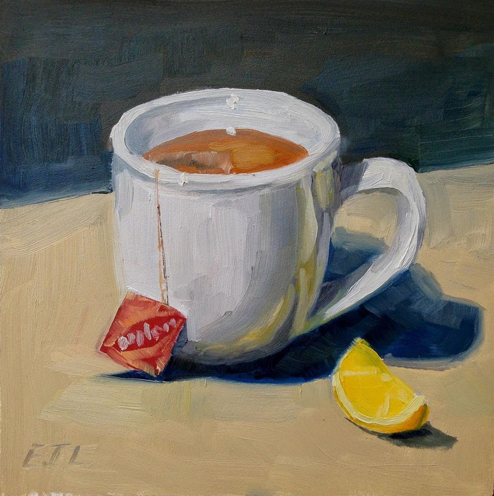 """Just My Cup of Tea"" original fine art by Eric Larson"