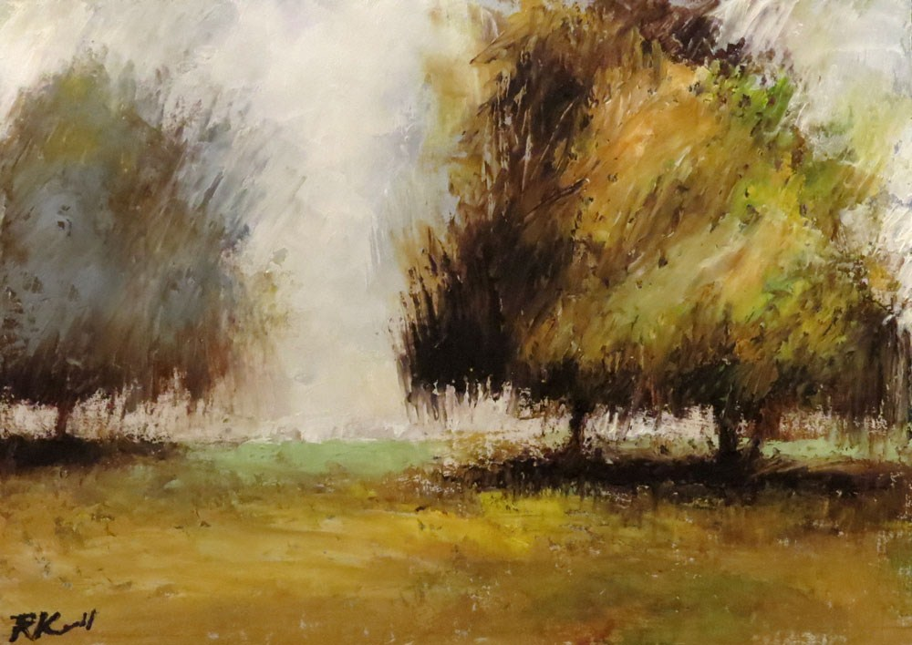 """A Group of Trees"" original fine art by Bob Kimball"
