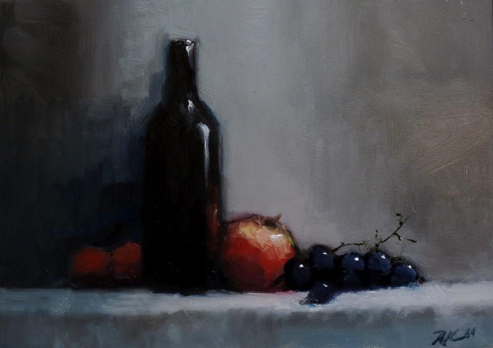 """Still Life with Grapes"" original fine art by Bob Kimball"