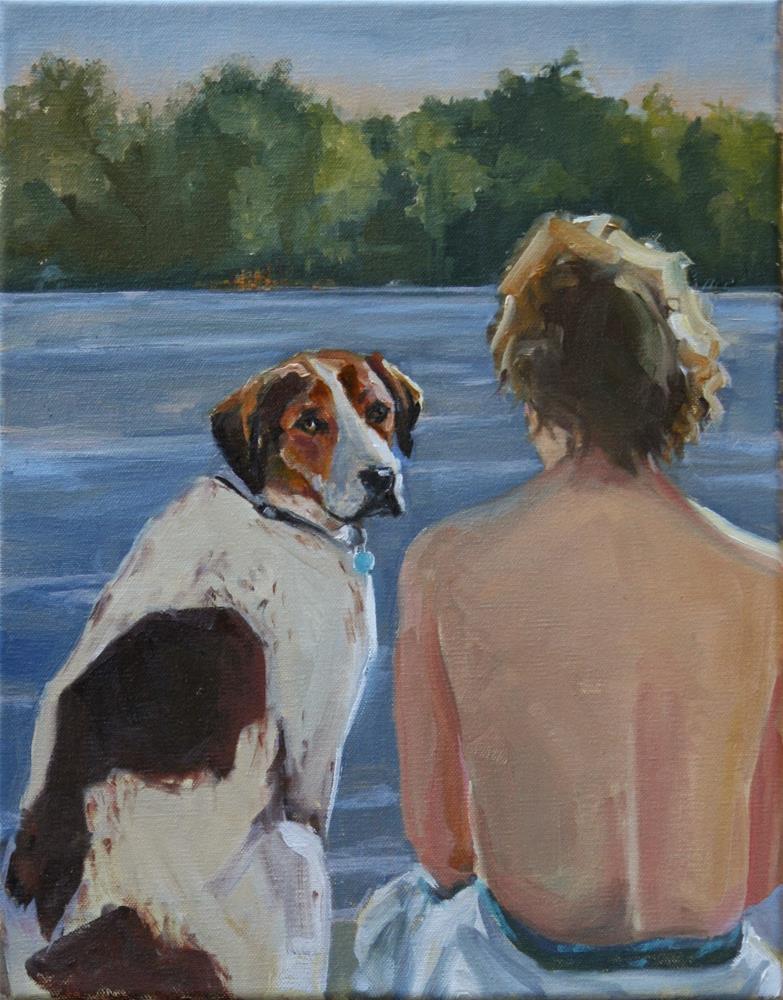 """""""keeping tabs"""" original fine art by Carol Carmichael"""