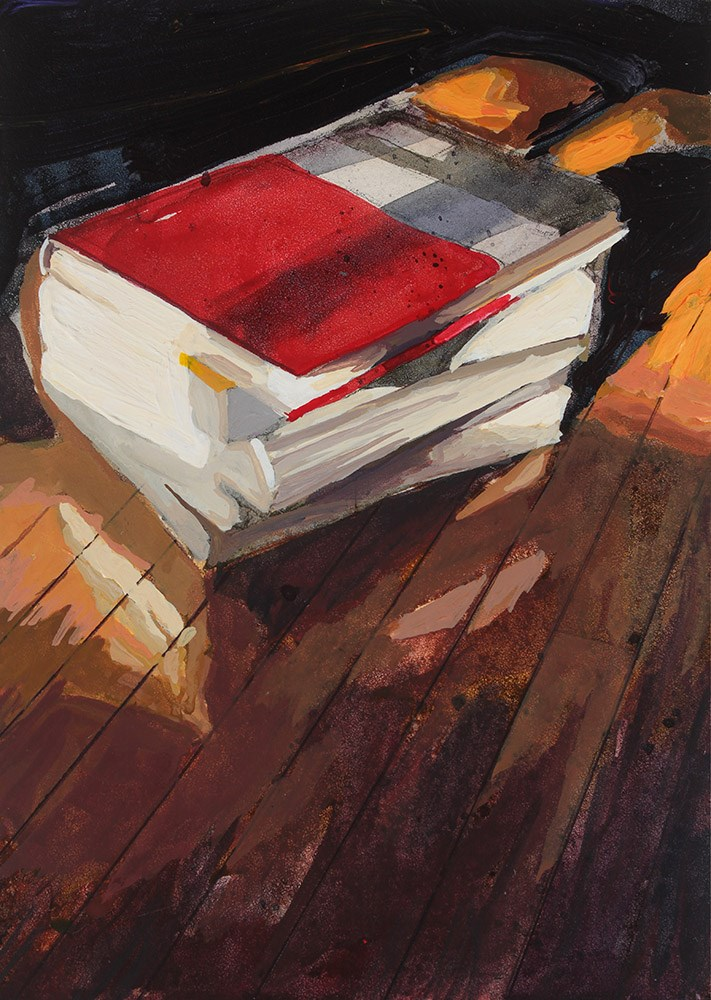 """Books II"" original fine art by Chris  Breier"