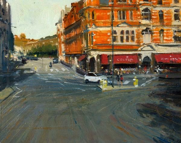 """Afternoon light, Sloane Square from Above (9) Chelsea Marathon"" original fine art by Adebanji Alade"