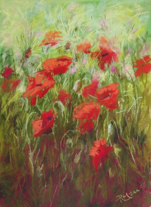 """Poppy Dance"" original fine art by Ruth Mann"