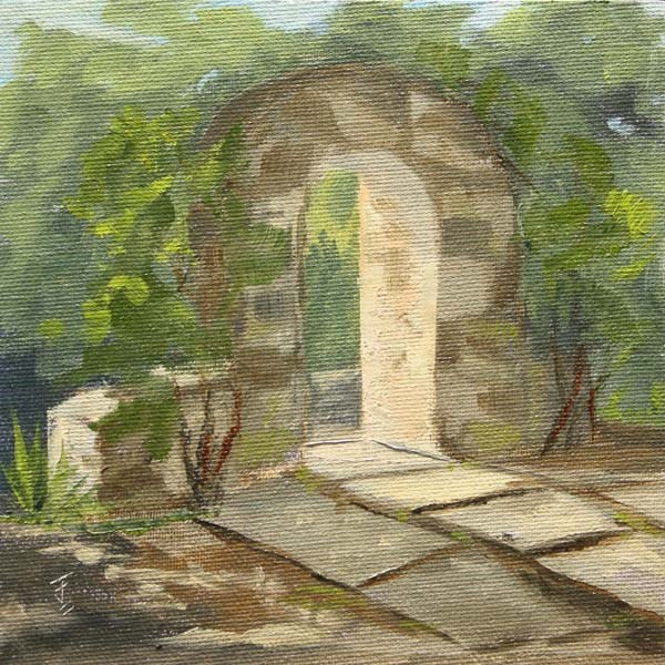 """Mayfield Arch"" original fine art by Jane Frederick"