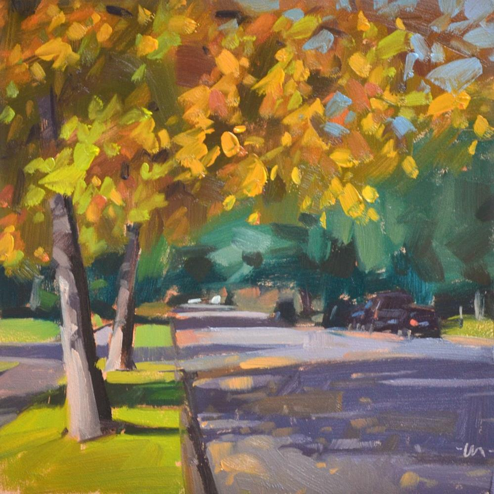 """Fall Shadows"" original fine art by Carol Marine"