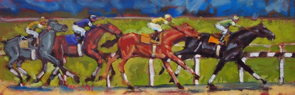 """Down to the Wire"" original fine art by Rick Nilson"